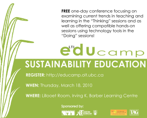 Moving Towards a Sustainable Education at EDUCamp 2010