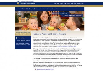 Making Public Health Studies More Accessible: Distributed Learning in the Master of Public Health