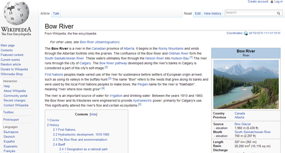 Bow River wiki