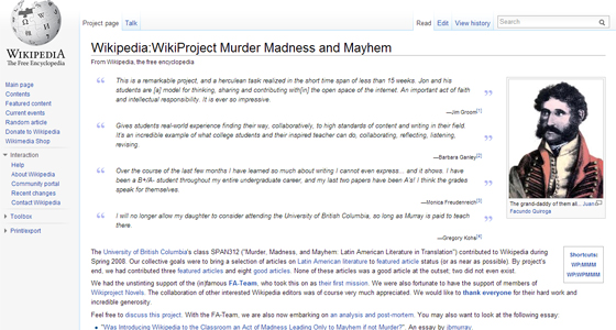 Murder, Madness, and Mayhem wiki