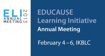EDUCAUSE Learning Initiative Online Annual Meeting