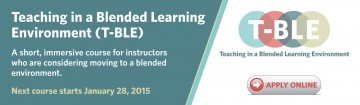 Teaching in a Blended Learning Environment (T-BLE)
