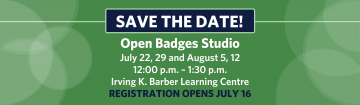 Save the Date! Open Badges Studio