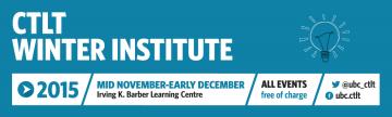 2015 CTLT Winter Institute