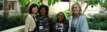 Amy Perreault and Hanae Tsukada with POD Conference Colleagues, San Francisco, CA, USA (Nov 4-8, 2015)