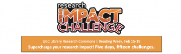 2016 Research Impact Challenge