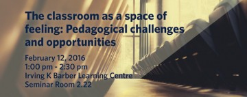 The classroom as a space of feeling: pedagogical challenges and opportunities