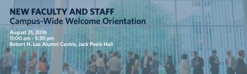 New Staff and Faculty Campus-Wide Welcome Orientation