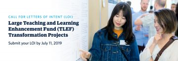 Call for Letters of Intent for Large Teaching and Learning Enhancement Fund projects